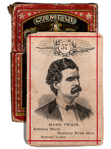 [Mark Twain (Samuel L. Clemens)]. Game of Star Authors. [circa 1875]. First edition.