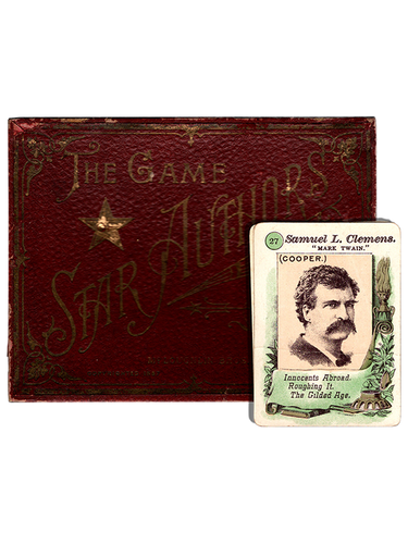 [Mark Twain (Samuel L. Clemens)]. Game of Star Authors. [circa 1887]. First edition.