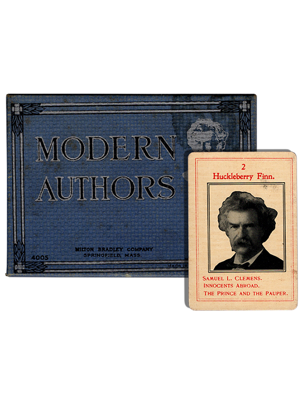 [Mark Twain (Samuel L. Clemens)]. Game of Modern Authors. [circa 1910]. First edition.