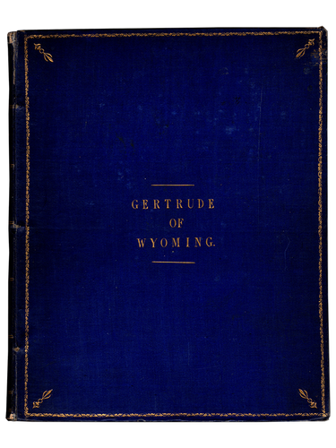 Thomas Campbell. Gertrude of Wyoming. 1809. First edition.