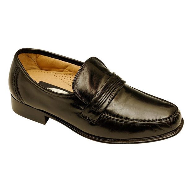 Clint Traditional Mens Leather Moccasin Slip on Shoe