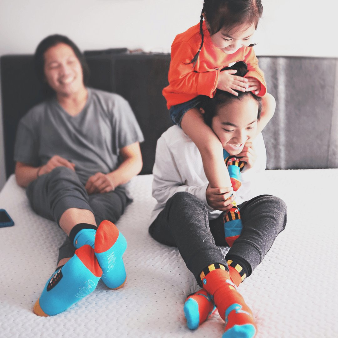 Happy socks that match Mommy and Daddy