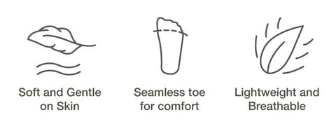 seamless cotton socks - soft, breathable