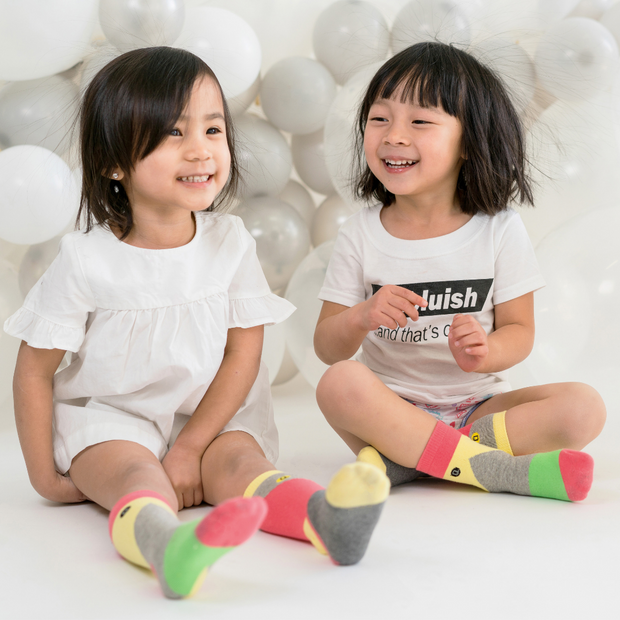 Blocks of Colour - Organic Toddler and Kids Socks | Q for Quinn