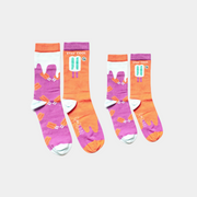 Mommy and Me, Matching Family Socks - Seamless, Organic Cotton - popsicle