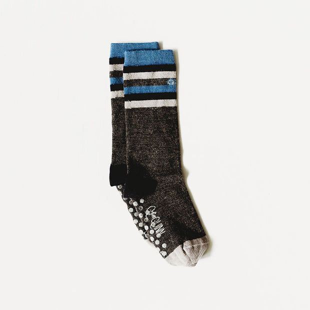merino wool socks grey with blue stripes
