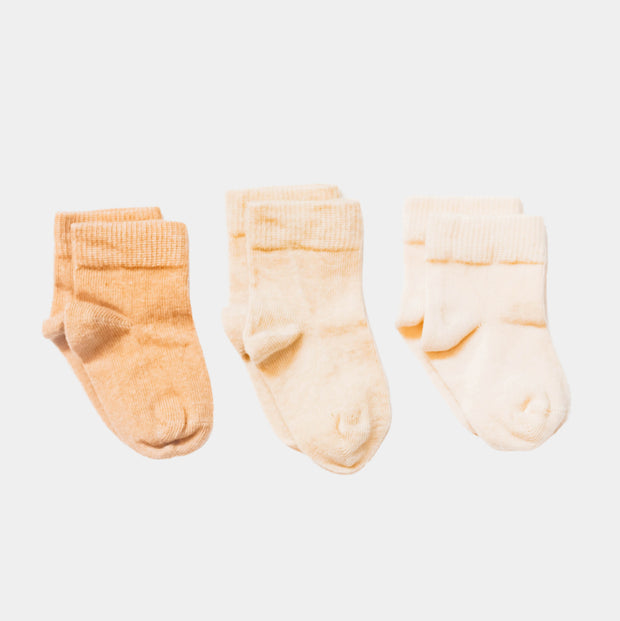 Organic Baby, Toddler, Kids Socks - Pure Collection for sensitive skin - 3 pairs