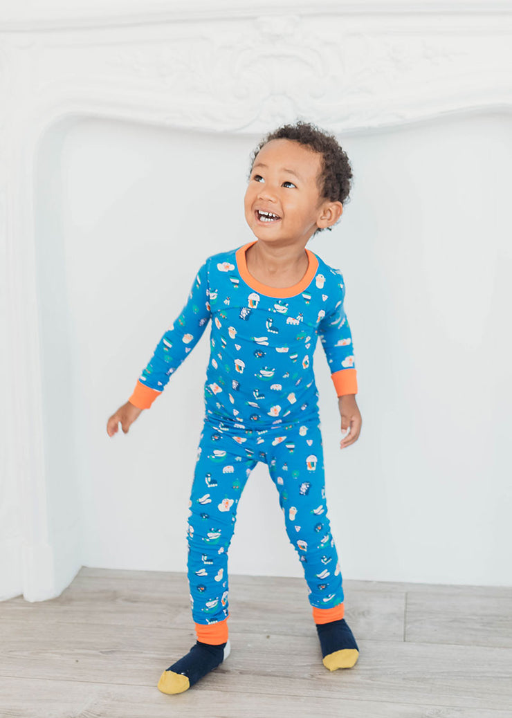 Organic Cotton Toddler, Kids Pajamas - Funny Creatures