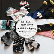 baby socks and tights from organic cotton