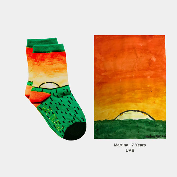 Kids Seamless Socks - Sunset by Martina