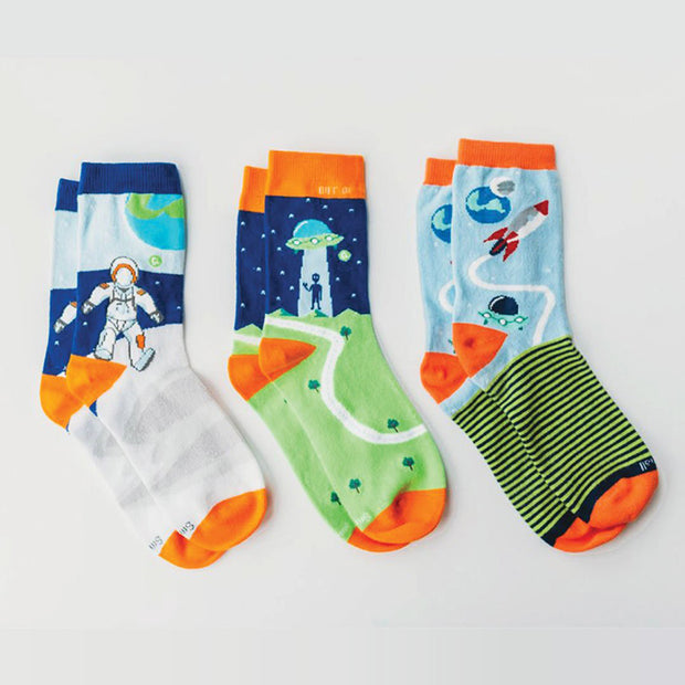 seamless adult socks - organic cotton - out of this world