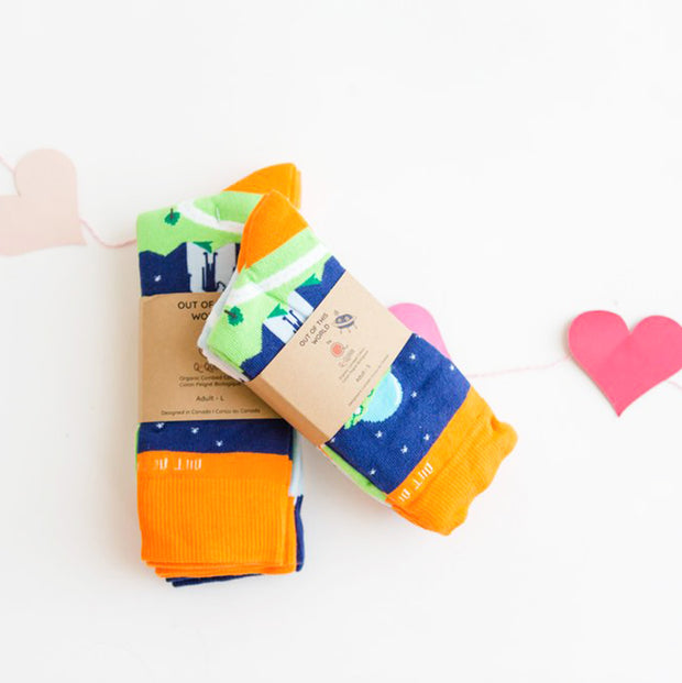 Organic Adult Socks - 'Out of This World' Love Bundle - 6 pairs
