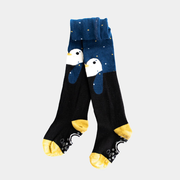 Girls tights, penguin design | Q for Quinn
