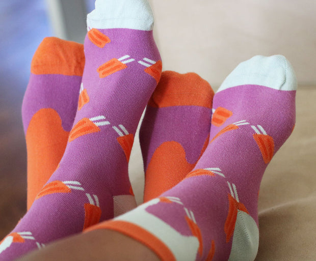 Seamless, Organic Cotton Socks -  Mommy and Me, Matching Family - popsicle