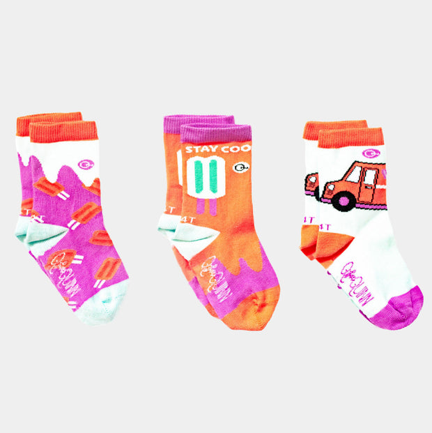 3 pairs of fun summer socks - popsicle design | Q for Quinn