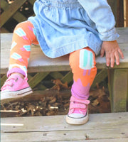 Organic Girls Tights - Popsicle - Footless