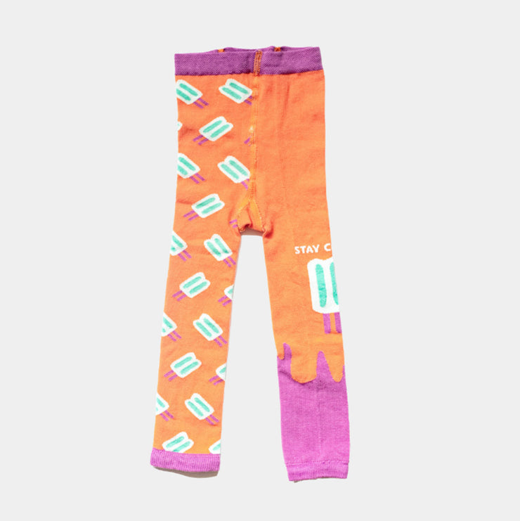 footless tights for girls - popsicle design | Q for Quinn