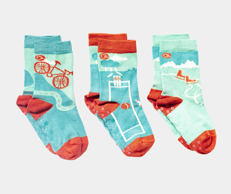 Organic cotton seamless socks for kids - Quinn's Sports