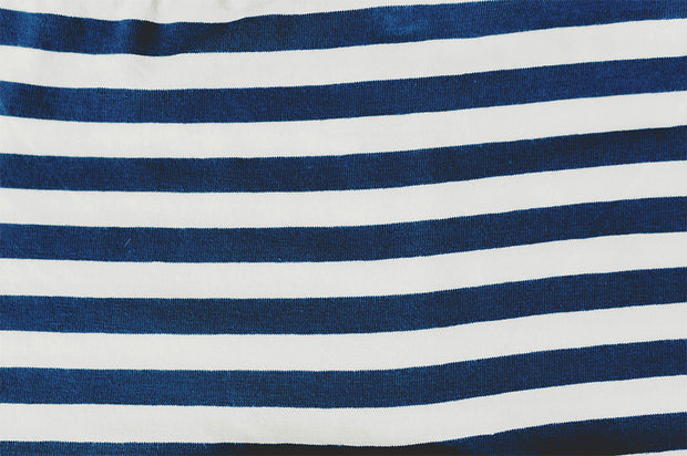 sailor stripes organic cotton fabric closeup