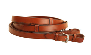 Tory Leather Dressage Reins with Stops