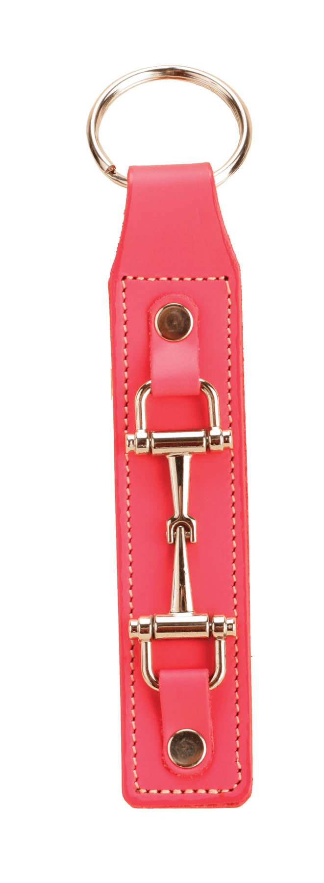 Tory Leather Pink Snaffle Key Fob