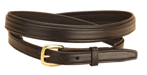 "Tory Leather Black Rolled Padded 1"" Belt"
