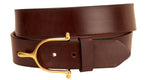 "Tory Leather 1.5"" Brass Spur Buckle Belt"