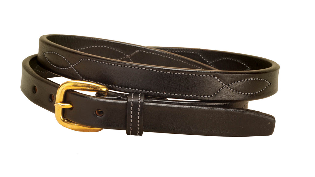 "Tory Leather 3/4"" Stitched Belt"