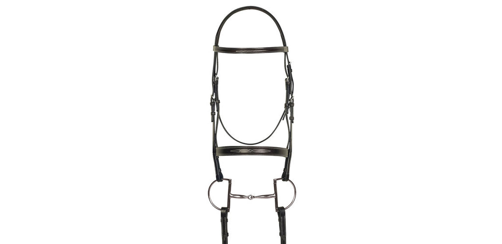 Aramas Fancy Mild Square Raised Bridle with Fancy Laced Reins