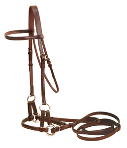 Tory Leather English Side Pull Bitless Bridle