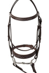 Huntley Fancy Stitched Leather Padded Hunter Bridle with Reins