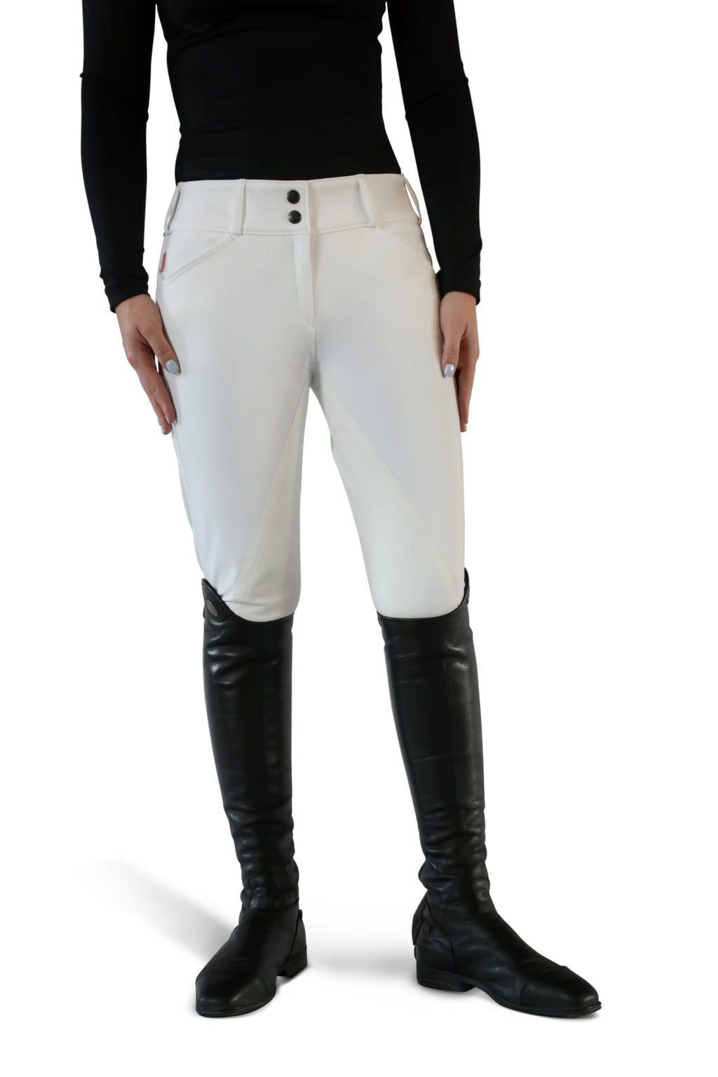 Tailored Sportsman Ladies' Full Seat Breech- Low Rise Front Zip
