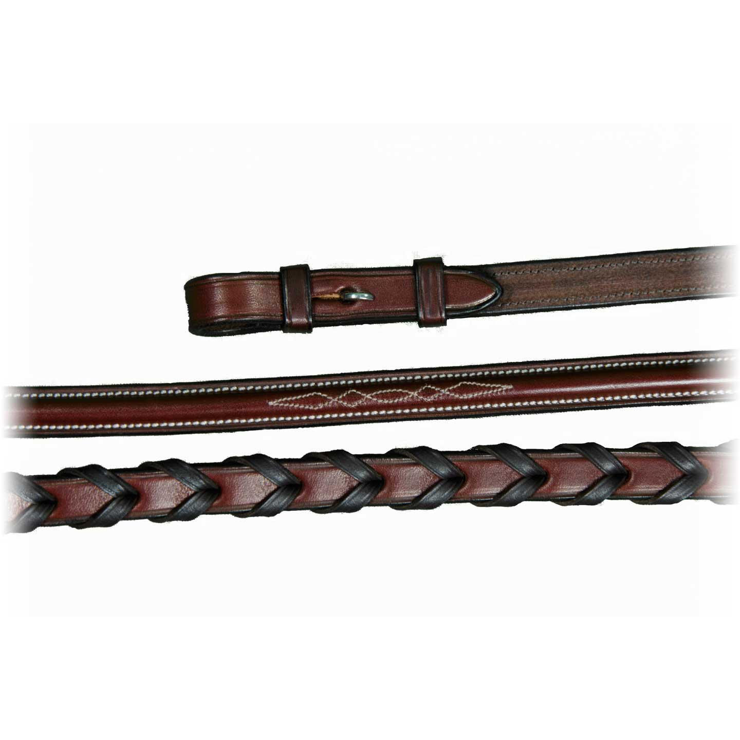 Vespucci Fancy Stitch Raised Laced Reins