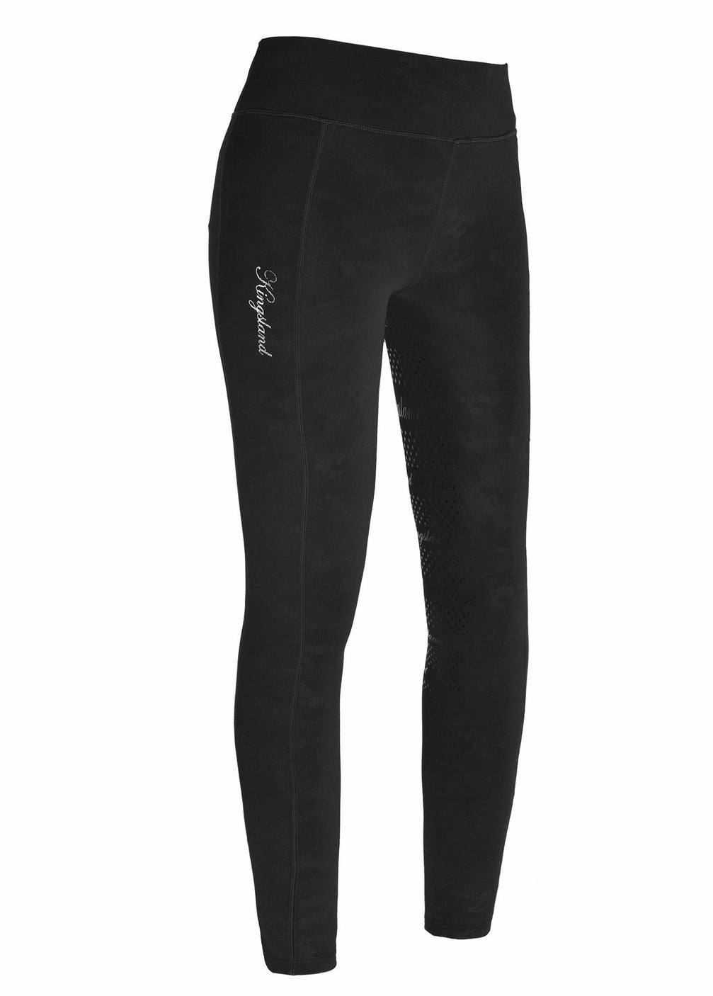 Kingsland Kemmie Girls' Full Grip Riding Tights