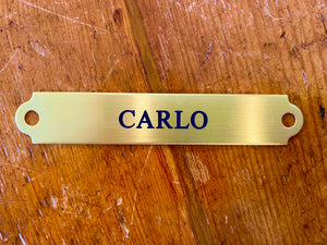 English Halter Name Plate