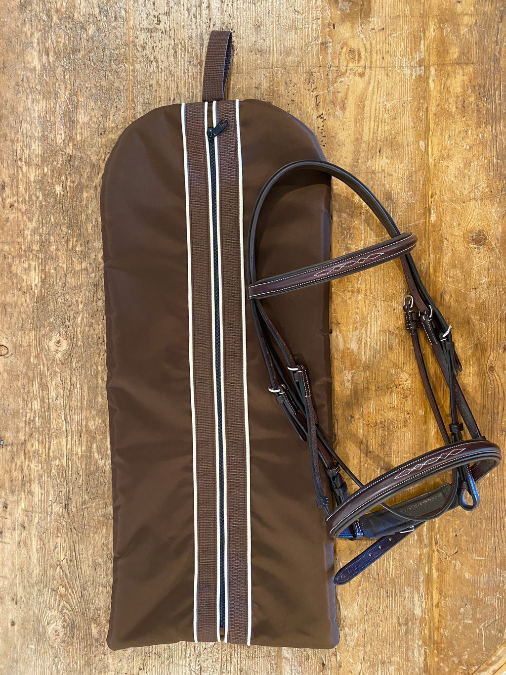 Tally Ho Custom Fleece Lined Bridle Bag