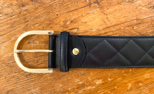 Tailored Sportsman Quilted Leather Belt