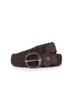 Brown Elasticated Belt