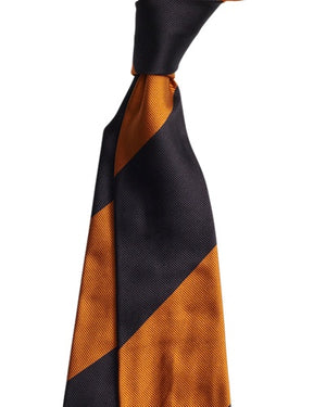 Bronze Black Thick Stripe Tie
