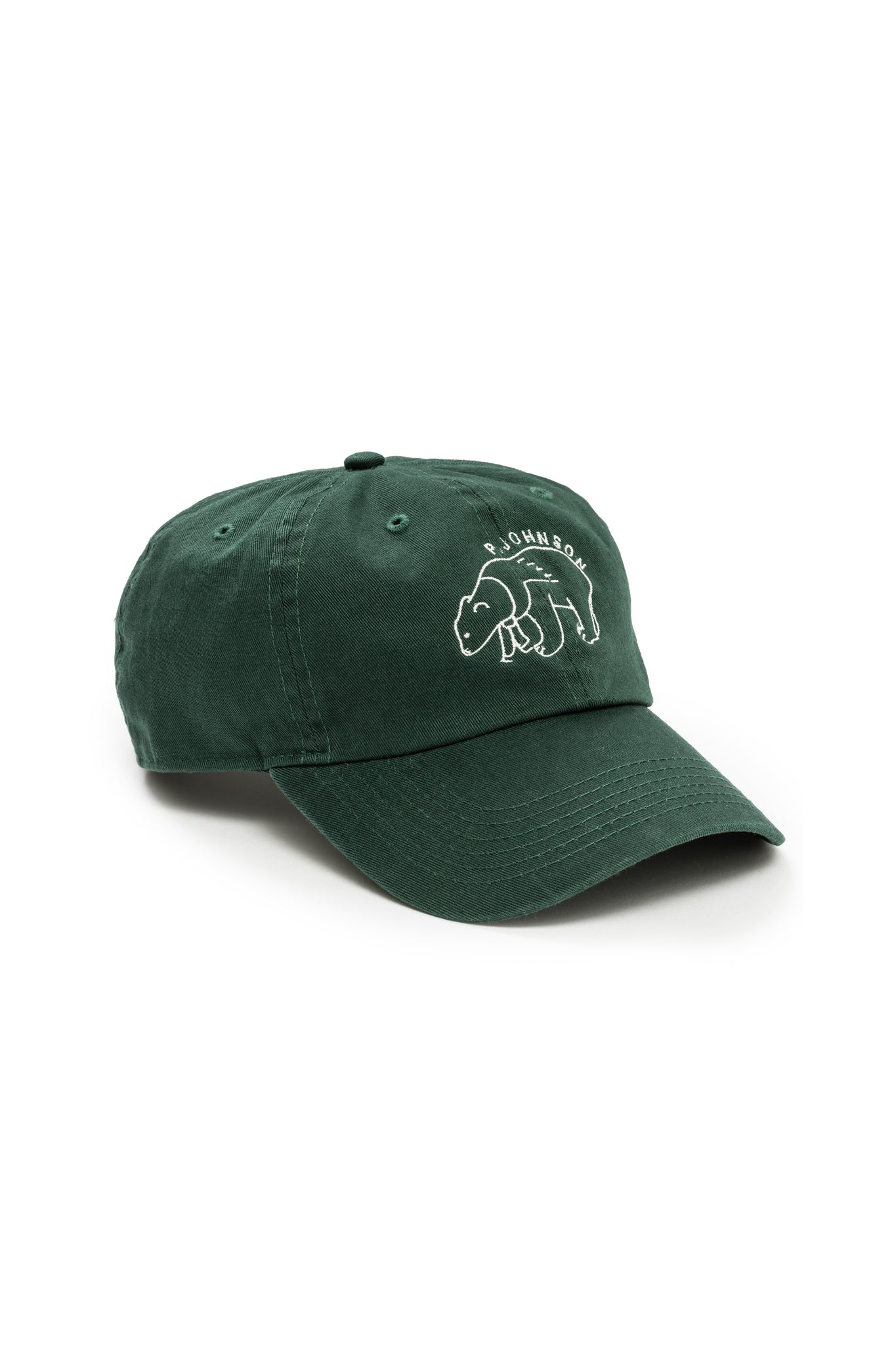 Dartmouth Green Shortstop Cap with White Polar Bear