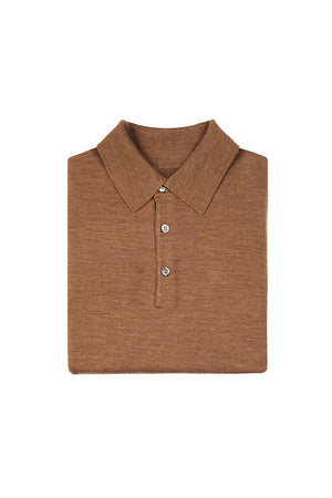 Tobacco S160 Merino Wool Polo