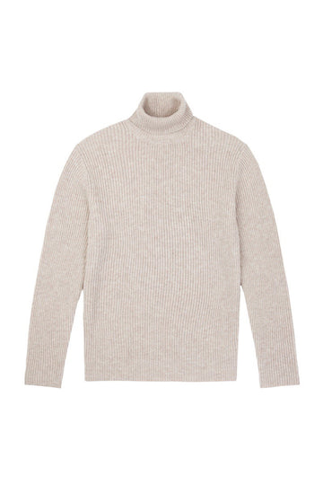 Porridge Chunky Wool Cashmere Roll Neck