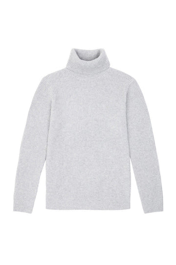 Husky Chunky Wool Cashmere Roll Neck