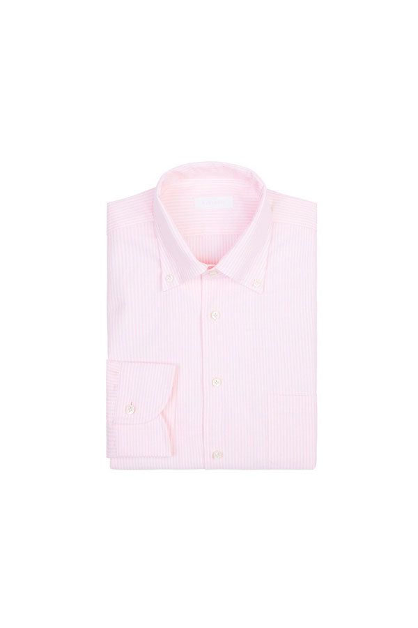 Pink Stripe Oxford Button Down Shirt