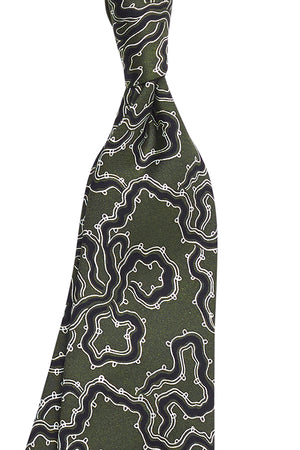 River Design on Green Base Tie
