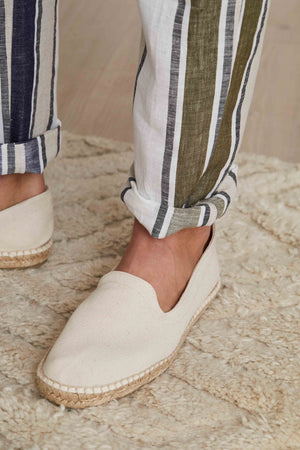 Cream Canvas Espadrille