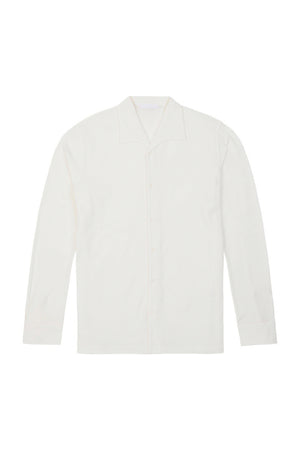 White Cotton One Piece Collar Polo