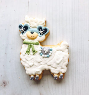 Winter Llama Cookie