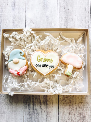 Gnome Valentine's Day Cookies