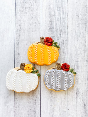Knitted Pumpkin Trio Cookies
